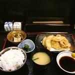 かる鴨 - 天ぷら定食 とり天