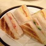 プランタン - モーニングセットのサンドイッチ