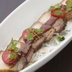 和風厨房 りゅう扇 - 豚三段バラの炙り焼 630円