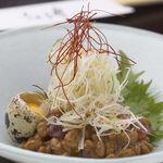 和風厨房 りゅう扇 - ◆旬魚とキムチ納豆ユッケ 420円◆