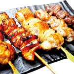 ぎんいち - 【焼き鳥5点盛り】お得で美味しい焼き鳥をお楽しみください。