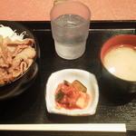 海鮮もんじゃ うづまさ - 豚バラしょうが焼き¥500