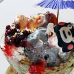 レストラン松風 - くまモンパフェ