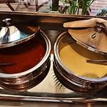 ベジテーブル - 本日のスープが2種類、用意されています