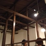 濱新 - 木造の軸組がアクセント