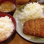 おさむ - ロースカツ定食100g¥900