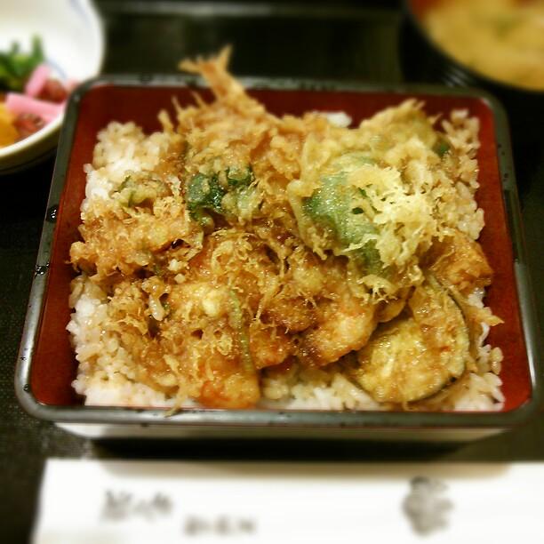 もも瀬 - ランチ かき揚げ丼950円