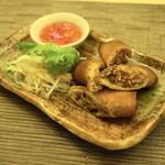 タイ国料理 チャイタレー - 2013.7 ポーピャトード(450円)豚挽肉と春雨入り自家製揚げ春巻き