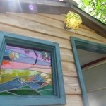 akatsukikafeandosamushingu - ステンドグラスの窓が綺麗