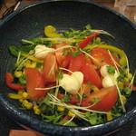 讃岐麺屋 あうん - 酢っきり!フルーツトマトとモッツァレラチーズのサラダ饂飩