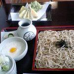 そば処 舌つづみ - 舌つづみ・とろろざる蕎麦+ミニ天ぷら