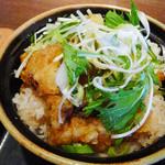 土の香 - 蕎麦と二重穴子天丼の二重穴子天丼