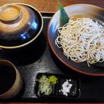 土の香 - 蕎麦と二重穴子天丼(ランチのセットメニュー)