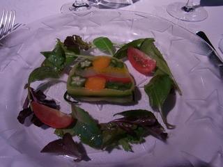 Gourmet et 5 Sence - 野菜だけのテリーヌ。色合いだけでなく、塩がきいていて味も絶品