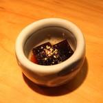 石臼挽き手打 蕎楽亭 - お通し (昆布の佃煮) (2013/07)