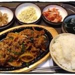 韓国亭ベマル - 豚プルコギ定食(850円)