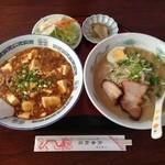 長春飯店 - 特製マーボー丼セット950円