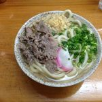 栄楽うどん - 肉うどん450円