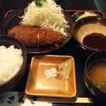 さんき - ロースかつ定食1350円です。