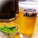 20212246 - 生ビールと枝豆