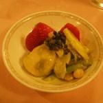 赤坂 四川飯店 - 四川友の会2013で出された料理その2です。帆立と葱山椒のソースがベストマッチでした。