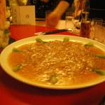 赤坂 四川飯店 - 四川友の会2013で出されたふかひれの料理です。蟹肉のソースが最高でした。
