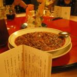 赤坂 四川飯店 - 牛筋入りの陳麻婆豆腐です。ご飯をお代わりしたくなる美味さです。