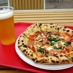 ピザ工房 - ダブルチーズとソーセージのピッツァ