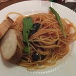 UCCカフェプラザ - 海老と茄子のトマトソーススパゲッティランチ