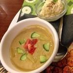 ロイヤルホスト - 冷製スープとポテトサラダ