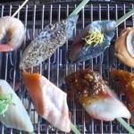 旬の鮮魚と串料理 海鮮居酒屋 炙り市場 - 炙り海鮮串!!
