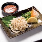東貝塚酒場 情熱ホルモン - 料理写真:白センマイ刺しは手間暇かけたまぼろしの逸品