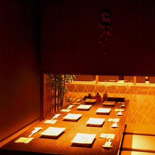 個室2室完備お座席は40名様まで貸し切り可能