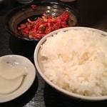 焼肉美味しんぼ - ご飯の漬物がうまかった