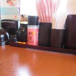 和食さと - テーブルにある調味料の1部