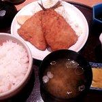 炭家米蔵 - あじフライ定食
