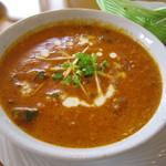 インディアン・レストラン ロタ - オクラとひき肉のカレー