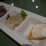 河内乙女の心くすぐるイタリアン フィアスケッタ - 前菜は、3種盛りです