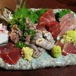 越後 - 料理写真:刺身盛り合わせ(二人前)2000円