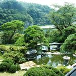 京亭 - 借景のように、荒川が見えます。