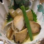 天繁 - とこぶしの煮物 (隠元一本食べてます)