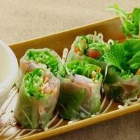 京の台所~産地野菜~ - マグロとアボガドの生春巻き