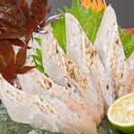 四国三郎 よしの川 - 太刀魚の炙り刺身