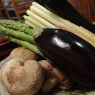 地元で取れた野菜をたっぷりと。。。