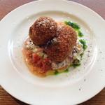 ラキュイエール - 2013年7月18日のランチの前菜「生ハムとジャガイモのコロッケ」