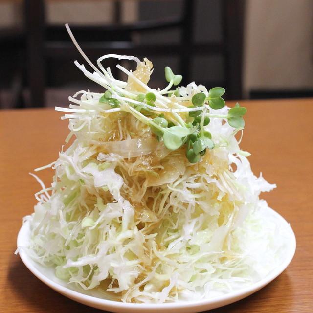 馬場南海 - カツカレー のサラダ