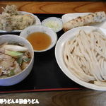 駕籠休み - 2013年7月 肉汁うどん+天ぷら