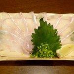 旬鮮酒場 Dank - ひらめ刺¥980 2013.7.19