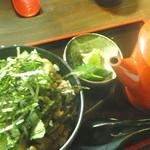熊野地鶏 みえじん - 松阪牛しぐれ茶漬け(680円)