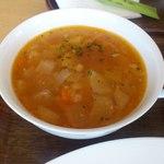 20262869 - 【2013年06月】ハンバーグランチのスープ。